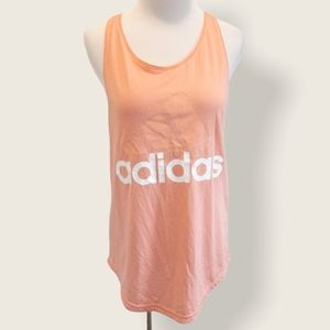 Adidas Pink Loose Fit Racerback Tank - Size Small